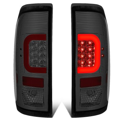 Ford F250 Super Duty 2008-2016 Smoked LED Tail Lights Red C-Tube