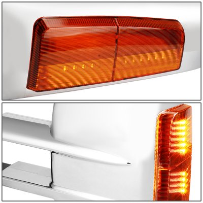 Chevy Silverado 2014-2018 Chrome Towing Mirrors Power Heated Signal Lights