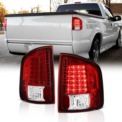 Chevy S10 1994-2004 Red and Clear LED Tail Lights