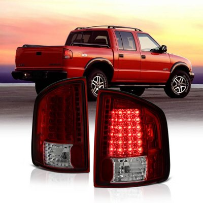 Chevy S10 1994-2004 Red and Smoked LED Tail Lights