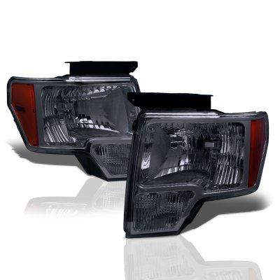 Ford F150 2009-2014 Smoked Euro Headlights