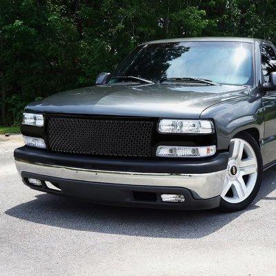 Chevy Silverado 1999-2002 Black Mesh Grille