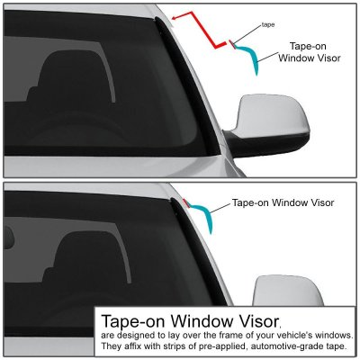 Honda Accord 1998-2002 Tinted Side Window Visors Deflectors