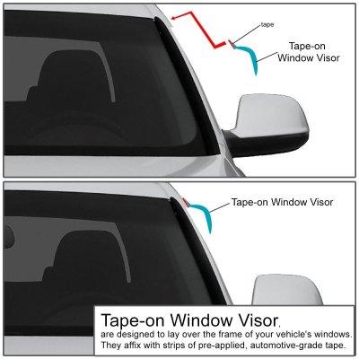 Kia Sportage 2005-2010 Tinted Side Window Visors Deflectors