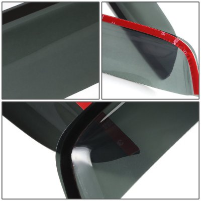 Mitsubishi Lancer 2008-2010 Tinted Side Window Visors Deflectors