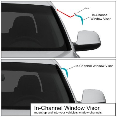 Dodge Dakota 1997-2004 Tinted Side Window Visors Deflectors