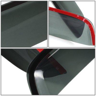 Dodge Ram 3500 2010-2014 Tinted Side Window Visors Deflectors