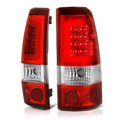 Chevy Silverado 1999-2002 Red LED Tail Lights Tube