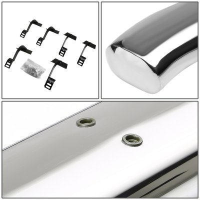 Ford F150 2015-2018 SuperCrew Cab Nerf Bars Curved Stainless 5 Inch