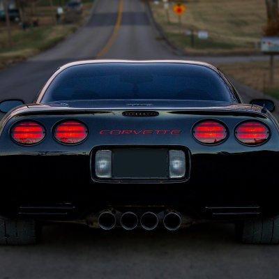 Chevy Corvette C5 1997-2004 Black Smoked LED Third Brake Light