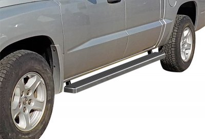 Dodge Dakota Quad Cab 2005-2011 iBoard Running Boards Aluminum 4 Inch