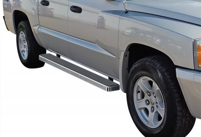 Dodge Dakota Quad Cab 2005-2011 iBoard Running Boards Aluminum 5 Inch