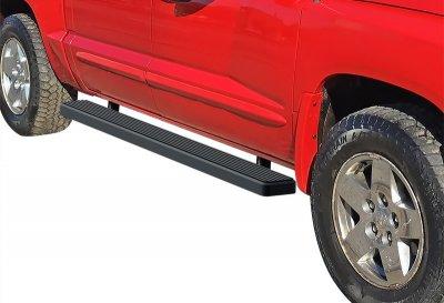 Dodge Dakota Quad Cab 2005-2011 iBoard Running Boards Black Aluminum 5 Inch