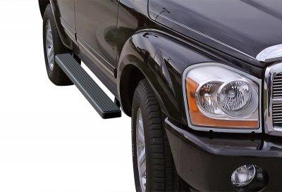 Chrysler Aspen 2006-2010 iBoard Running Boards Black Aluminum 4 Inch