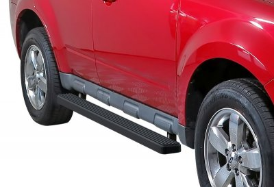 Mercury Mariner 2008-2010 iBoard Running Boards Black Aluminum 6 Inch