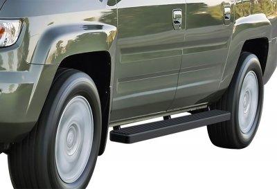 Honda Ridgeline 2006-2015 iBoard Running Boards Black Aluminum 4 Inch