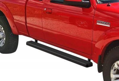 Mazda B2500 Extended Cab 1998-2000 iBoard Running Boards Black Aluminum 4 Inch