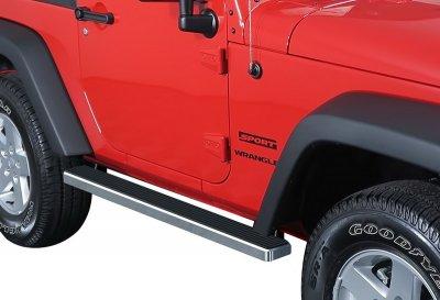 Jeep Wrangler JK 2-Door 2007-2018 iBoard Running Boards Aluminum 5 Inch
