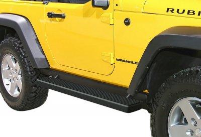 Jeep Wrangler JK 2-Door 2007-2018 iBoard Running Boards Black Aluminum 5 Inch