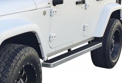 Jeep Wrangler JK 4-Door 2007-2018 iBoard Running Boards Aluminum 4 Inch