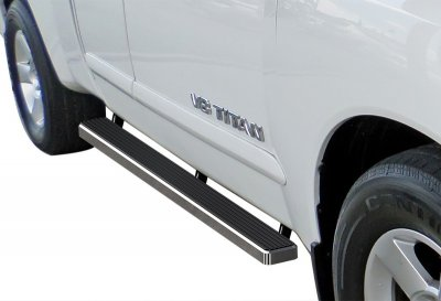 Nissan Titan King Cab 2004-2015 Running Boards Step Bars Aluminum 4 Inch