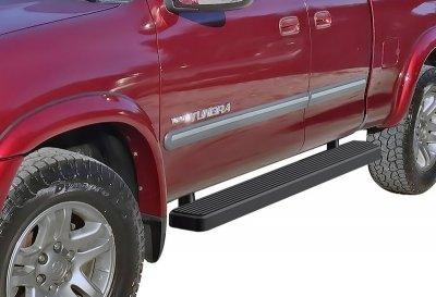 Toyota Tundra Access Cab 2000-2006 iBoard Running Boards Black Aluminum 5 Inch