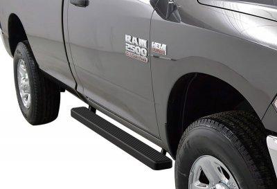 Dodge Ram Regular Cab 2009-2018 iBoard Running Boards Black Aluminum 4 Inch