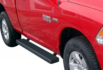 Dodge Ram Regular Cab 2009-2018 iBoard Running Boards Black Aluminum 5 Inch