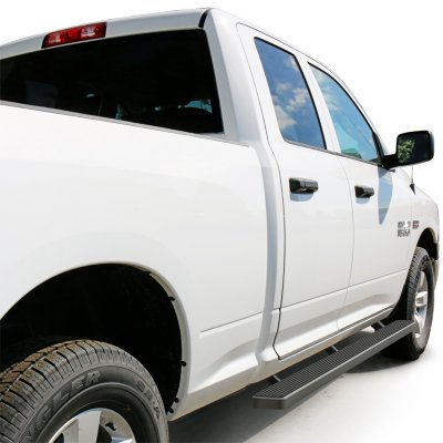 Dodge Ram Quad Cab 2009-2018 iBoard Running Boards Black Aluminum 4 Inch