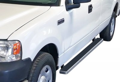 Ford F150 SuperCab 2004-2008 Running Boards Step Bars Aluminum 4 Inch