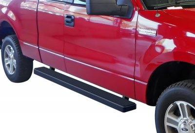 Ford F150 SuperCab 2004-2008 iBoard Running Boards Black Aluminum 5 Inch