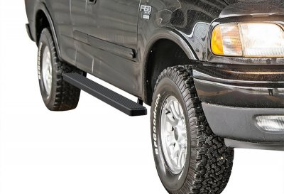 Ford F150 SuperCab 1999-2003 iBoard Running Boards Black Aluminum 4 Inch
