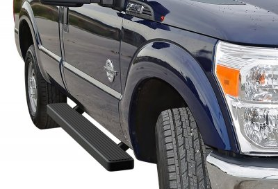 Ford F250 Super Duty Regular Cab 1999-2007 Running Boards Step Bars Black Aluminum 6 Inch