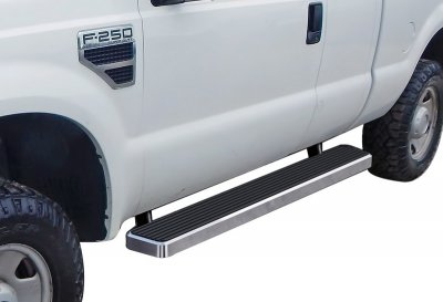 Ford F250 Super Duty SuperCab 2008-2010 iBoard Running Boards Aluminum 6 Inch