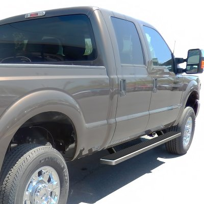 Ford F250 Super Duty Crew Cab 1999-2007 iBoard Running Boards Aluminum 4 Inch