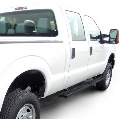 Ford F250 Super Duty Crew Cab 2008-2010 iBoard Running Boards Black Aluminum 4 Inch