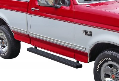 Ford F250 Regular Cab 1980-1996 iBoard Running Boards Black Aluminum 4 Inch