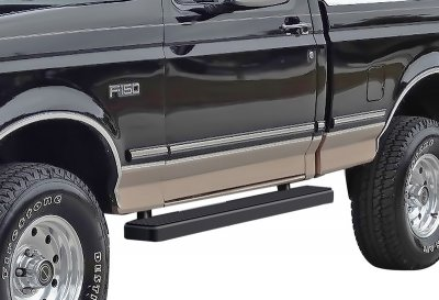 Ford F350 Regular Cab 1980-1996 iBoard Running Boards Black Aluminum 5 Inch