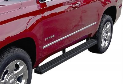 Cadillac Escalade 2001-2006 Running Boards Step Bars Black Aluminum 4 Inch