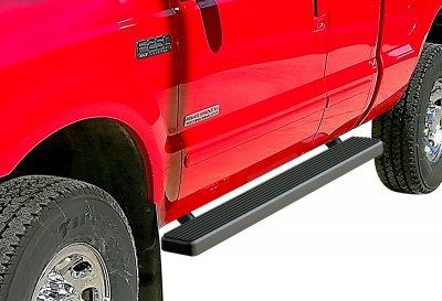 Ford F250 Super Duty SuperCab 1999-2007 Running Boards Step Bars Black Aluminum 4 Inch