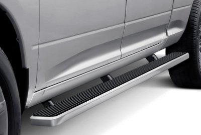 Ford F250 Super Duty Crew Cab Long Bed 2008-2010 Wheel-to-Wheel Running Boards Step Bars Aluminum 5 Inch