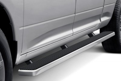 Ford F250 Super Duty Crew Cab Long Bed 2011-2016 Wheel-to-Wheel Running Boards Step Bars Aluminum 6 Inch