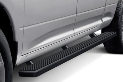 Ford F250 Super Duty Crew Cab Long Bed 2008-2010 Wheel-to-Wheel iBoard Running Boards Black Aluminum 6 Inch