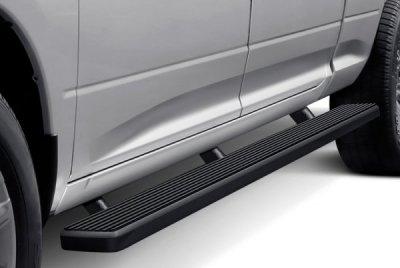 Dodge Ram 1500 Crew Cab Long Bed 2009-2018 Wheel-to-Wheel iBoard Running Boards Black Aluminum 6 Inch