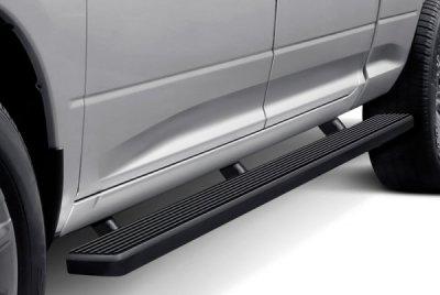 Dodge Ram 1500 Quad Cab Long Bed 2009-2018 Wheel-to-Wheel iBoard Running Boards Black Aluminum 5 Inch