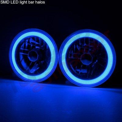 GMC Vandura 1974-1978 Black Blue Halo Tube Sealed Beam Headlight Conversion