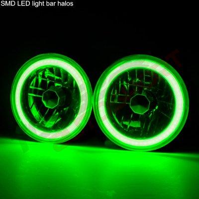 Chevy Suburban 1967-1973 Black Green Halo Tube Sealed Beam Headlight Conversion