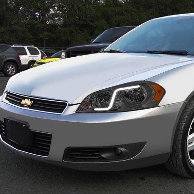 Chevy Impala 2006-2013 Smoked Headlights Tube DRL