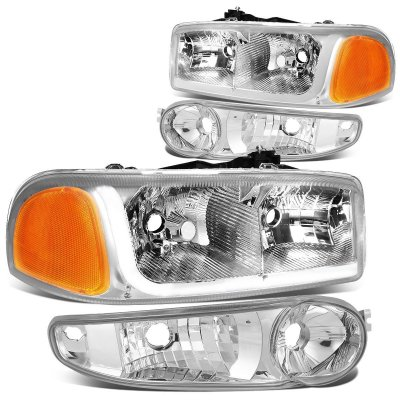 GMC Sierra Denali 2002-2006 Headlights Tube DRL