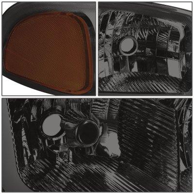 GMC Yukon 2000-2006 Smoked Headlights Tube DRL